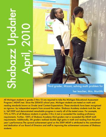 April 2010 Updater - Shabazz Public School Academy