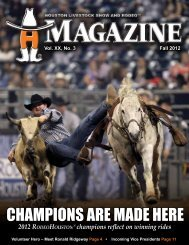 CHAMPIONS ARE MADE HERE - Houston Livestock Show and ...