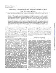 Branch-Length Prior Influences Bayesian Posterior Probability of ...