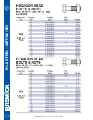 hexagon head bolts & nuts - RGA and PSM Fasteners