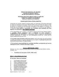 edital convocação provas agente de combate às endemias - Linhares