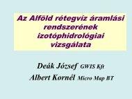 Az Alföld rétegvíz rendszerének izotóphidrológiai vizsgálata