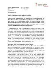Biken im grössen Naturpark der Schweiz (PDF, 155.22 KB) - Savognin