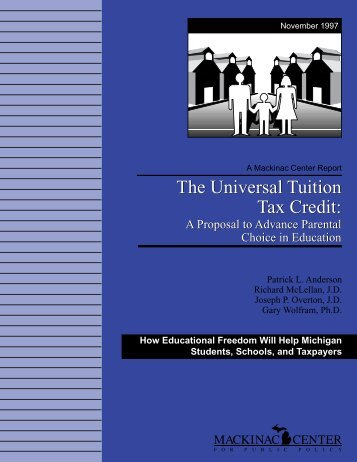 The Universal Tuition Tax Credit - Mackinac Center