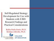 Self-Regulated Strategy Development for Use with ... - MSLBD