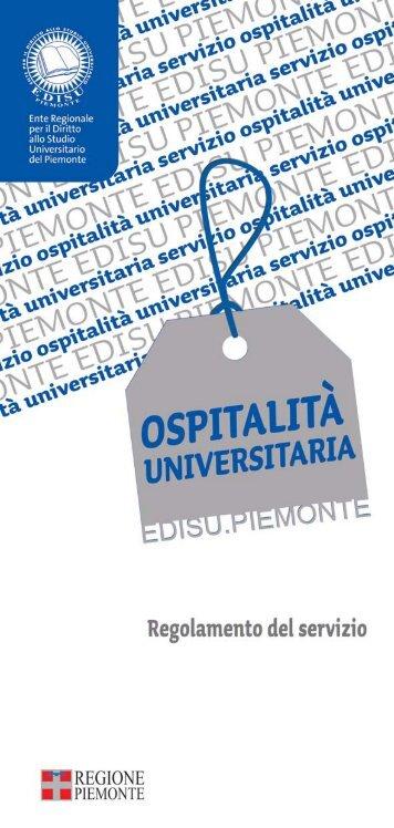 Regolamento del servizio di ospitalità - Ente Regionale per il Diritto ...