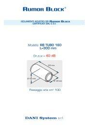 DANI System s.r.l. Modello: RB TUBO 160 L=300 ... - RUMOR BLOCK