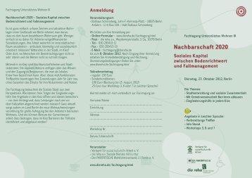 Nachbarschaft 2020 - Verband für sozial-kulturelle Arbeit eV