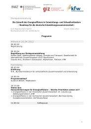 Programm - Berliner Energieagentur