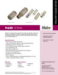 Halco LED JC Bulbs Sell Sheet - LED Lighting