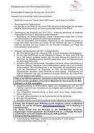 Protokoll der Sitzung vom 20.03.2013 - Pfarrei Heilig Geist Jülich