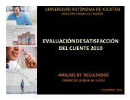 Resultados 2010 - Dirección General de Finanzas - Universidad ...