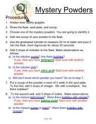 Mystery Powders - OMSI