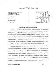 Granted-Temporary Restraining Order Against Glover - CoServ ...