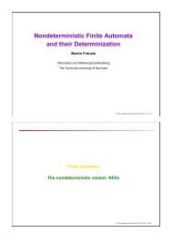 Nondeterministic Finite Automata and their Determinization