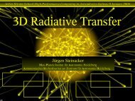 3D Radiative Transfer - DIAS
