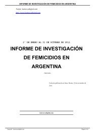 INFORME DE INVESTIGACIÓN DE FEMICIDIOS EN ARGENTINA
