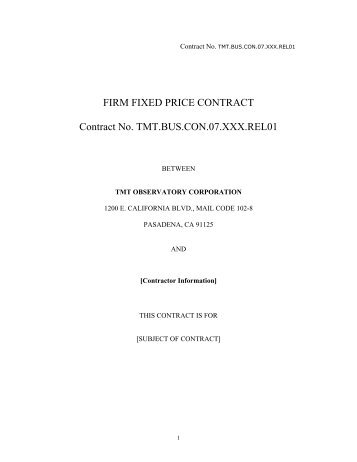 Ffp contract template for Fixed price construction contract template