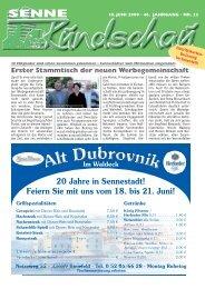 20 Jahre in Sennestadt! - Senne Rundschau