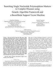 Searching Single Nucleotide Polymorphism Markers to Complex ...