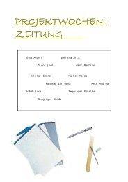 PROJEKTWOCHEN-ZEITUNG 2005 - Schule Schöftland