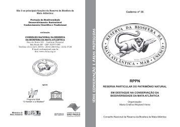 Caderno RBMA e ABDL - Reserva da Biosfera da Mata Atlântica