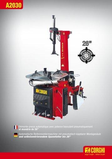 Démonte-pneus automatique avec potence basculant ... - Corghi SpA