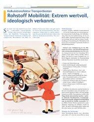 Rohstoff Mobilität: Extrem wertvoll, ideologisch ... - Lahor Jakrlin