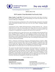 WFP Launches Urban Households Food Security Study