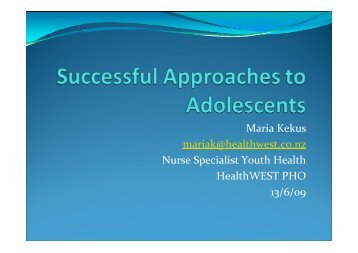 Success Approaches to Adolescents (PDF Format, 2.3mb)