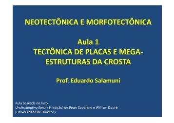 aula 1 - tectônica de placas e mega-estruturas da ... - Geologia Ufpr