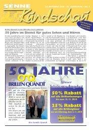 50 Jahre im Dienst für gutes Sehen - Senne Rundschau