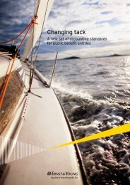 Changing tack - A new set of accounting standards ... - Ernst & Young
