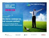 Workshop 2: De mens centraal in Het Nieuwe ... - Facto Magazine