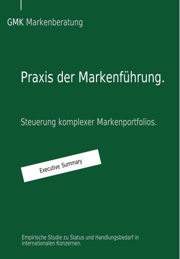 Studie als PDF - GMK Markenberatung