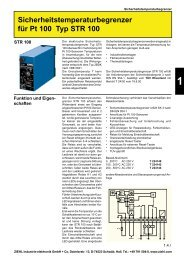 Sicherheitstemperaturbegrenzer für Pt 100 Typ ... - drive-electric.hu