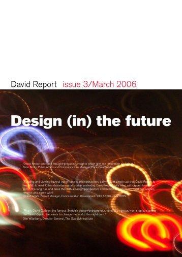 Design (in) the future - David Report