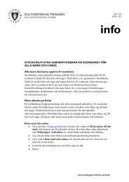 Information om subventionerad fri scenkonst för barn och unga i ...