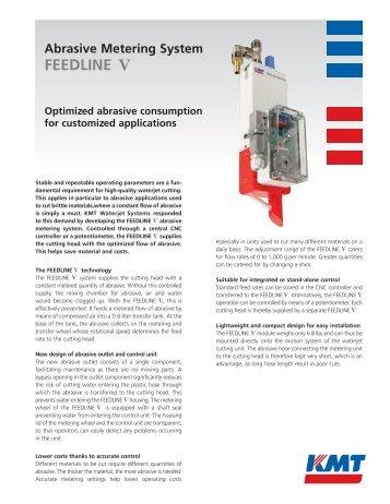 Download the FEEDLINE V Flyer (177 kb) - KMT Waterjet Systems