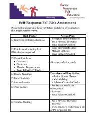 Self-Response Fall Risk Assessment - UCSF Fresno
