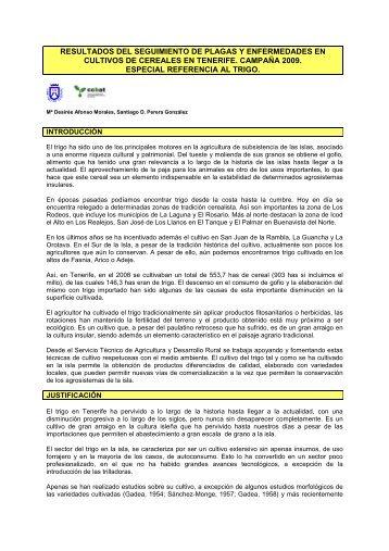 Resultado seguimiento plagas enfermedades en ... - AgroCabildo