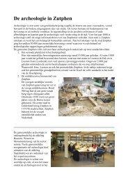 De archeologie in Zutphen herzien maart 09 foto ing - MijnGelderland