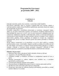 Programul de guvernare 2009-2012 - Capitolul V. Politica în ...