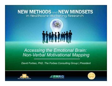 Non-Verbal Motivational Mapping - PMRG