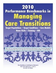 Download the executive summary of 2010 Performance Benchmarks