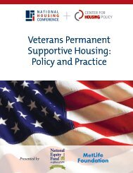 Veterans Permanent Supportive Housing: Policy and Practice