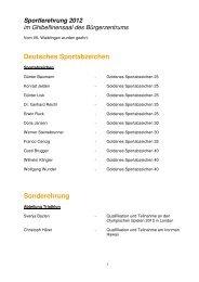 Deutsches Sportabzeichen Sonderehrung - VfL Waiblingen