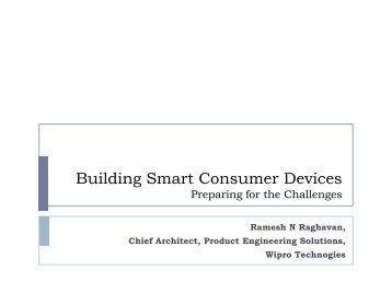 Building Smart Consumer Devices