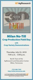 Field Day Program - Milan - The University of Tennessee