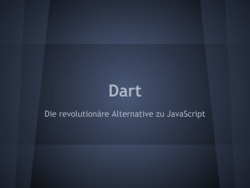 Die revolutionäre Alternative zu JavaScript - webdevFulda